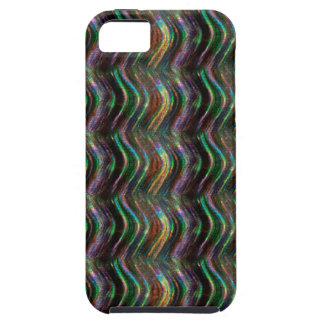Dark Shiny Holographic Wave Pattern Pixel iPhone SE/5/5s Case