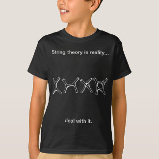 dark shirt, string theory, deal with it T-Shirt