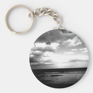 Dark Shore Basic Round Button Keychain