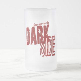 Dark Side - Frosted Glass Stein