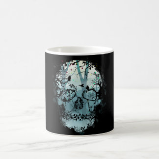 Dark Side Of Skull & Forest Coffee Mug