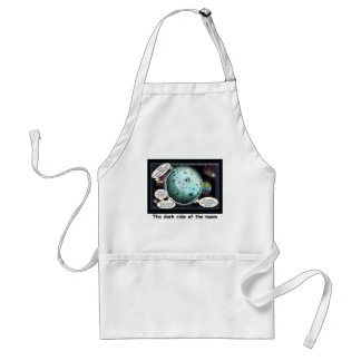 Dark Side Of The Moon Funny Cartoon Gifts Adult Apron