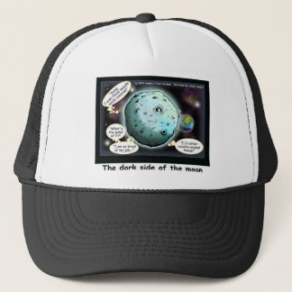 Dark Side Of The Moon Funny Cartoon Gifts Trucker Hat