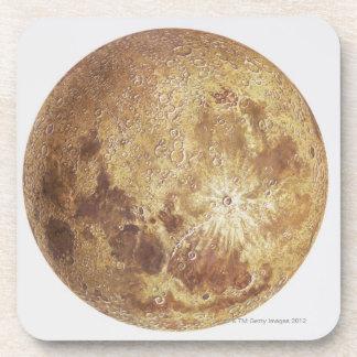 Dark side of the moon, illustration coaster