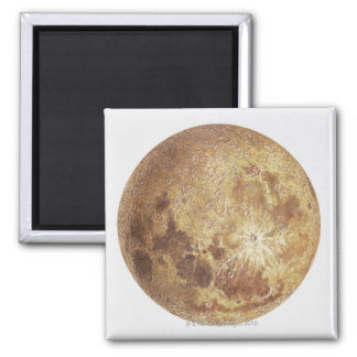 Dark side of the moon, illustration 2 inch square magnet