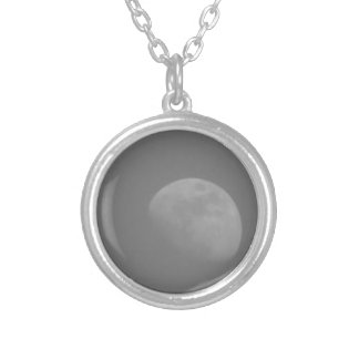 Dark Side of the Moon Round Pendant Necklace