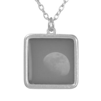 Dark Side of the Moon Silver Plated Necklace