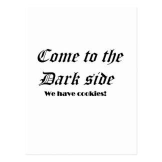 Dark side postcard