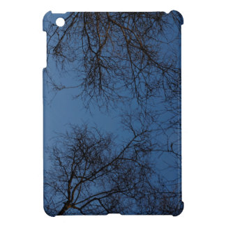 Dark silhouetted trees iPad mini cover