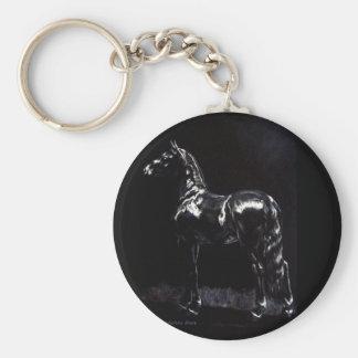 Dark Silver Basic Round Button Keychain