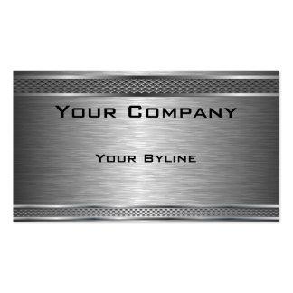 Dark Silver Brushed  Business Card