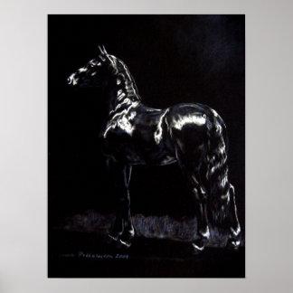 Dark Silver Poster