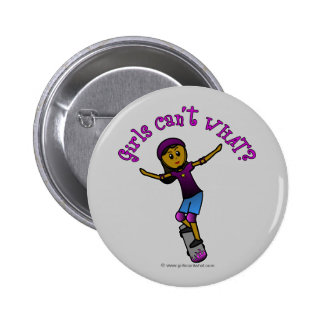 Dark Skater with Helmet Pinback Buttons