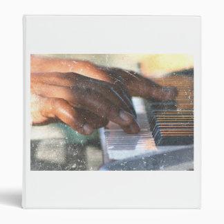 dark skin hands playing piano keyboard grunge binder