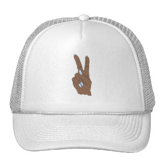 Dark Skin Peace Out Baseball Cap Trucker Hat