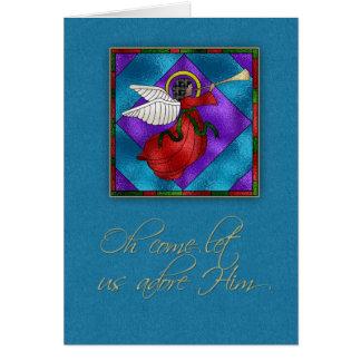 Dark Skinned Angel, Religious Christmas Card