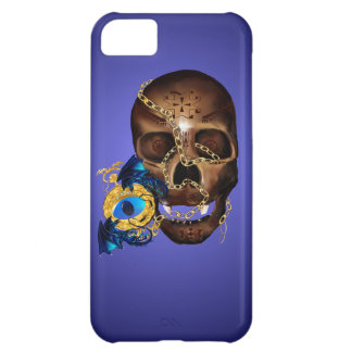 Dark Skull and Evil Eye Gold Watch Case For iPhone 5C