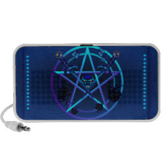 Dark Skull and Pentagram Speakers