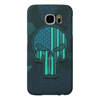 Dark Skull Camo Samsung Galaxy S6 Case