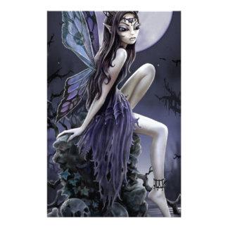 Dark Skull Fairy Stationery Design