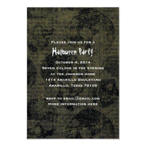 Dark Skull Halloween Party Invitation