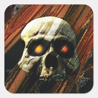 Dark Skull Square Stickers