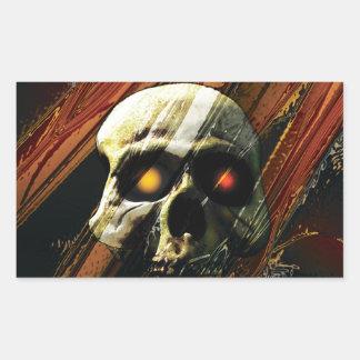 Dark Skull Rectangle Sticker