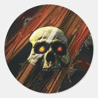Dark Skull Round Sticker