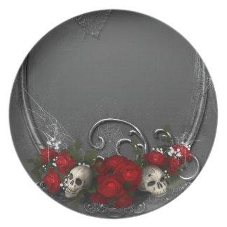 Dark Skulls Melamine Plate