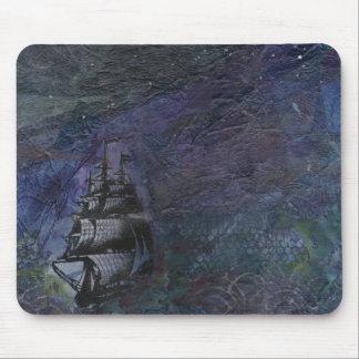 Dark Sky Ship Collage Mousepad