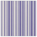 [ Thumbnail: Dark Slate Blue and Beige Pattern Fabric ]