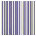 [ Thumbnail: Dark Slate Blue and Beige Striped/Lined Pattern Fabric ]