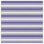 [ Thumbnail: Dark Slate Blue and Beige Striped Pattern Fabric ]