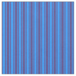 [ Thumbnail: Dark Slate Blue and Blue Lined/Striped Pattern Fabric ]