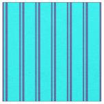 [ Thumbnail: Dark Slate Blue and Cyan Pattern Fabric ]