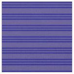 [ Thumbnail: Dark Slate Blue and Dark Blue Stripes Fabric ]