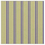 [ Thumbnail: Dark Slate Blue and Dark Khaki Colored Stripes Fabric ]
