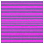 [ Thumbnail: Dark Slate Blue and Fuchsia Colored Lines Fabric ]