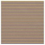 [ Thumbnail: Dark Slate Blue and Goldenrod Colored Pattern Fabric ]