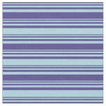 [ Thumbnail: Dark Slate Blue and Light Blue Colored Lines Fabric ]