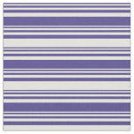 [ Thumbnail: Dark Slate Blue and Light Yellow Colored Stripes Fabric ]