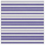 [ Thumbnail: Dark Slate Blue and Light Yellow Stripes Pattern Fabric ]
