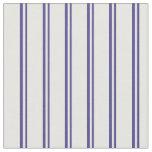 [ Thumbnail: Dark Slate Blue and Mint Cream Stripes Fabric ]