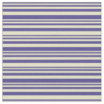[ Thumbnail: Dark Slate Blue and Pale Goldenrod Colored Lines Fabric ]
