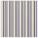 [ Thumbnail: Dark Slate Blue and Tan Colored Pattern Fabric ]