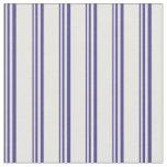 [ Thumbnail: Dark Slate Blue and White Stripes Pattern Fabric ]