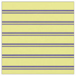 [ Thumbnail: Dark Slate Blue and Yellow Colored Pattern Fabric ]
