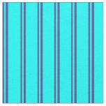 [ Thumbnail: Dark Slate Blue & Aqua Colored Pattern Fabric ]