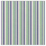 [ Thumbnail: Dark Slate Blue, Bisque, and Dark Sea Green Lines Fabric ]