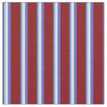 [ Thumbnail: Dark Slate Blue, Blue, Beige, Slate Blue & Maroon Fabric ]